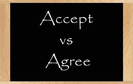 تفاوت agree با accept