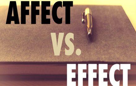 تفاوت affect با effect