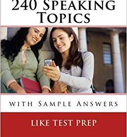 کتاب 240 موضوع اسپیکینگ آیلتس